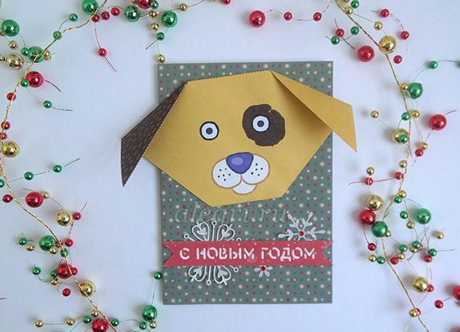 Новогодние открытки своими руками 2018
