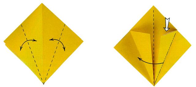 Оригами цветы. Ирис