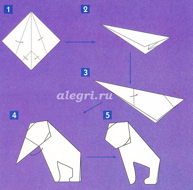 Обезьяна из бумаги как сделать