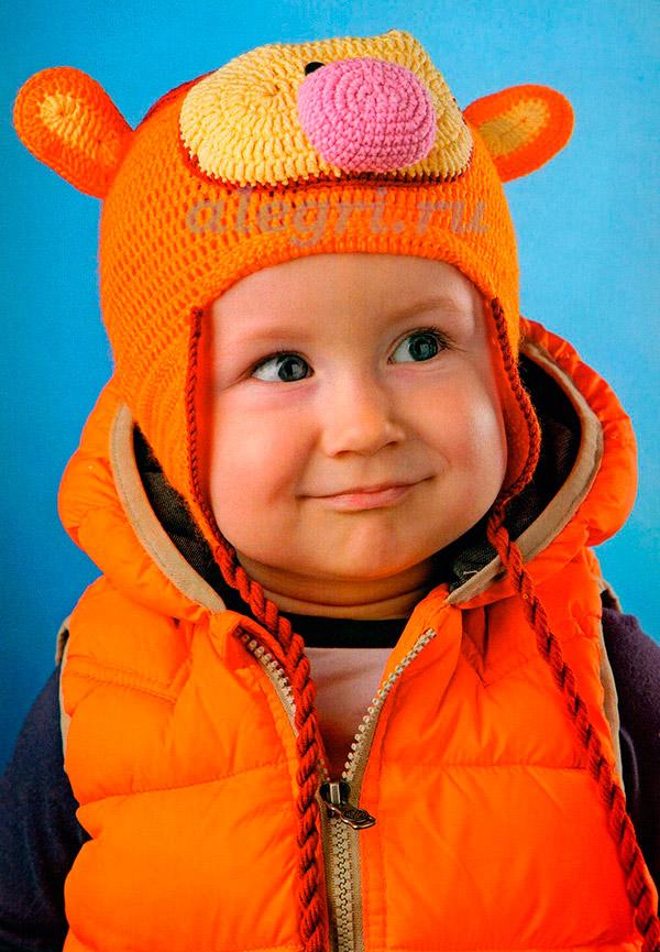 Детские шапки на 2 года вязание