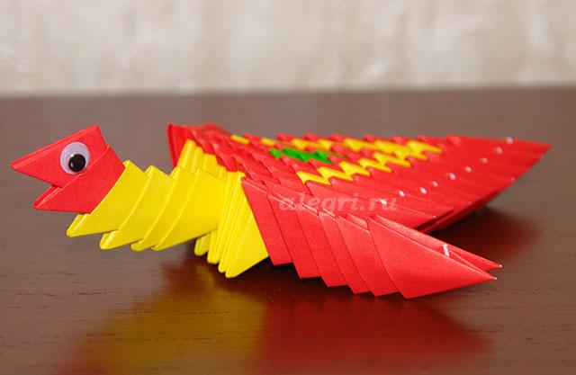 Модульное оригами цыплёнок схема фото 220