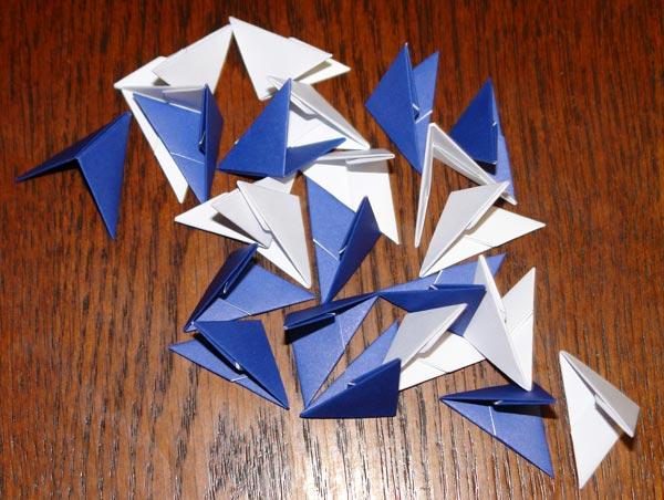 Снежинки. Оригами