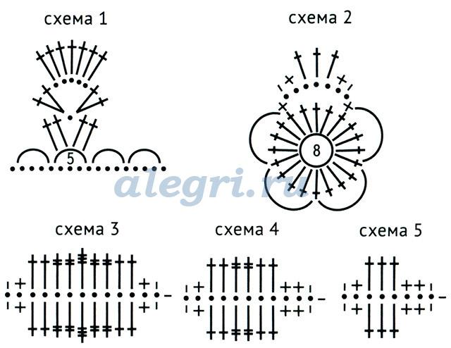 Схема вязания шапки на осень для девочек 713