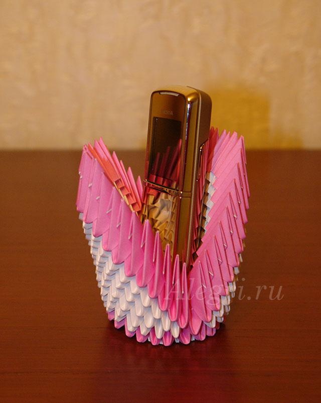 Как сделать из оригами подставку для телефона