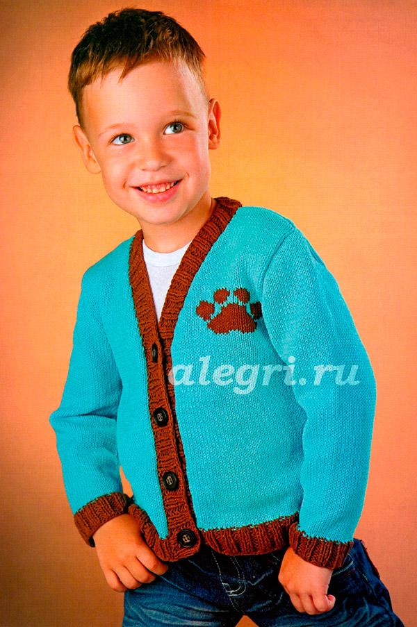 Вязание крючком свитера на мальчика 781