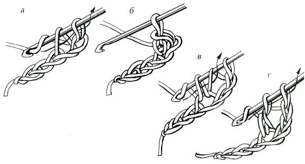 Прямоугольник крючком столбик с накидом схема6