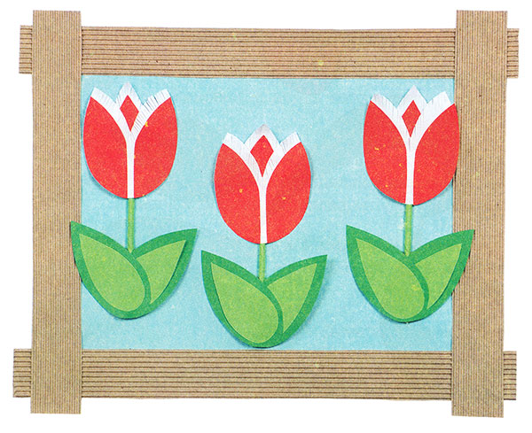 Тюльпаны своими руками из бумаги с шаблонами