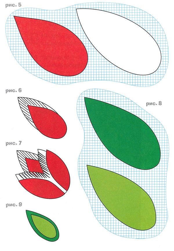 Цветы из бумаги своими руками схемы шаблоны тюльпан