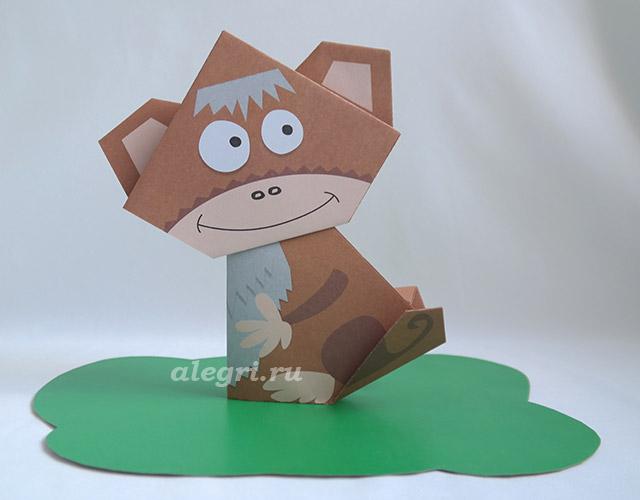 Как сделать обезьяна своими руками из бумаги