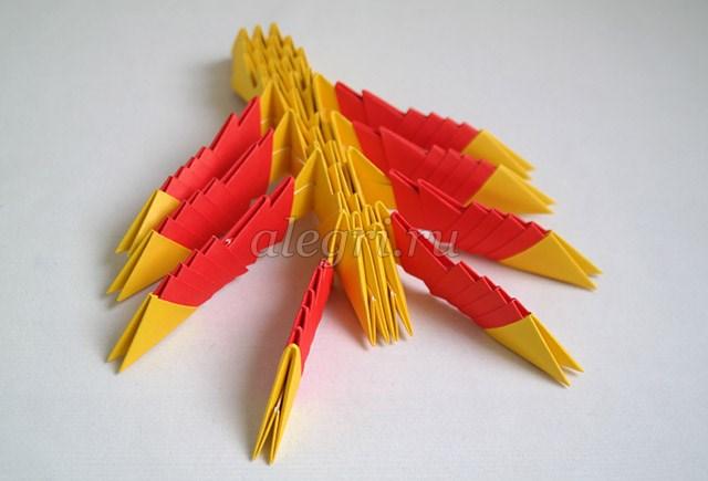 Оригами сова модулями