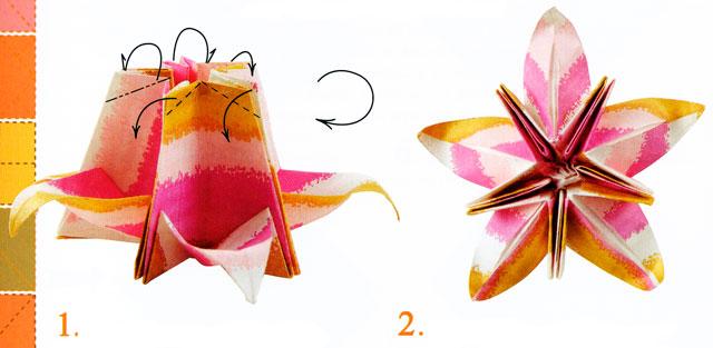 Цветок вишни.  Этапы и схемы изготовления цветов из бумаги.