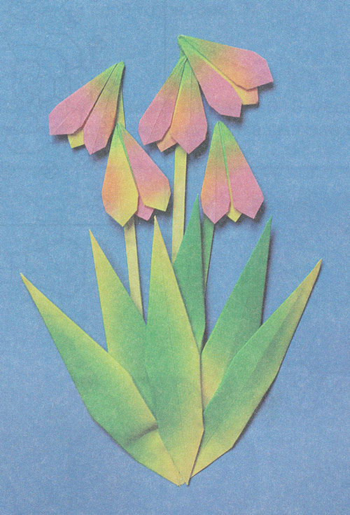 Оригами. Подснежники