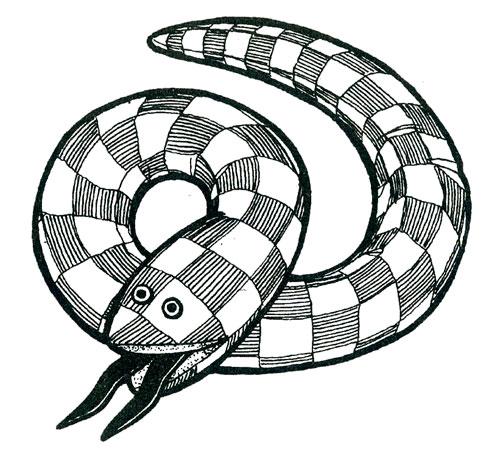 выкройка мягкой игрушки змея 3.