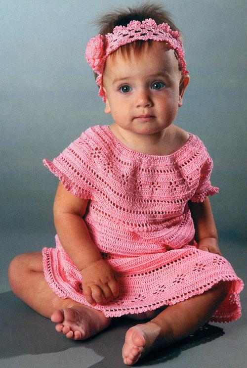 Повязки на голову для новорожденных вязание крючком.