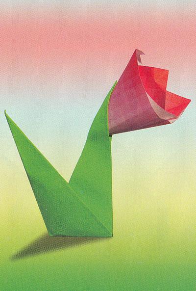 Оригами. Подснежник