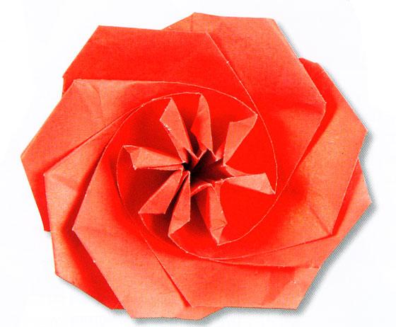 Изготовление розы.  Схемы и этапы.