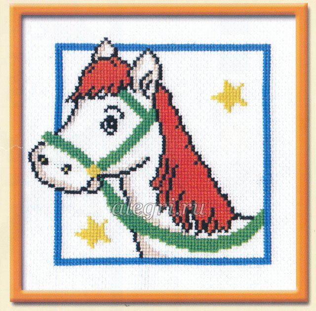Вышивка. Лошадь