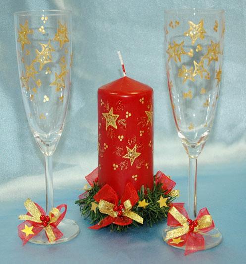 Новогоднее украшение в бокале своими руками