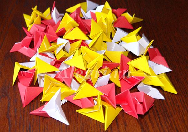Модульное оригами. Пасхальное