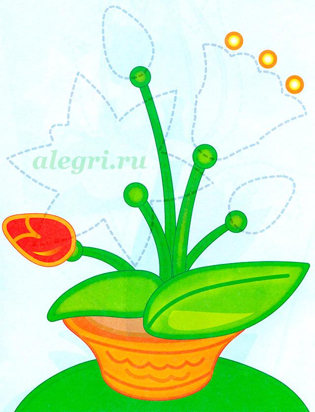 Комнатное растение «Каллы» своими руками для детей 5-7 лет. Мастер-класс 72