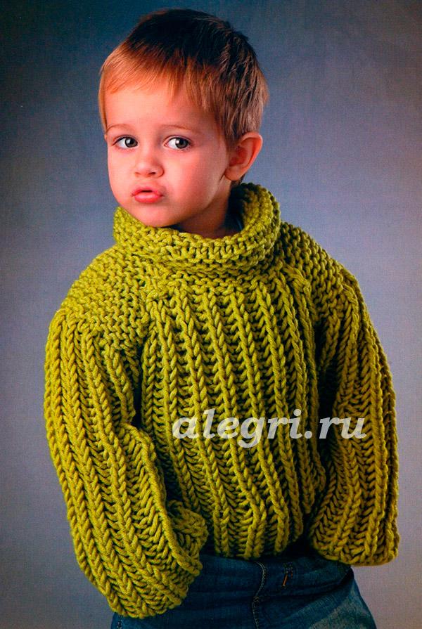 свитер для девочки английской резинкой