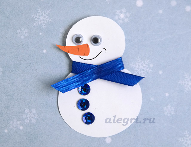 Открытки своими снеговики