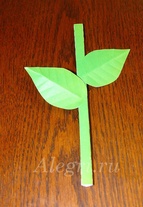 Цветок на стебле из бумаги своими руками 2
