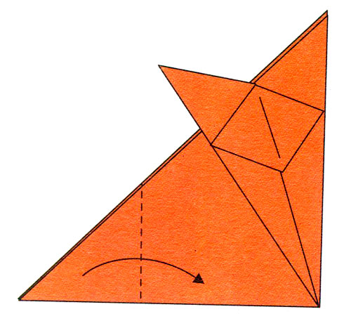 Оригами из бумаги лиса схема фото 822