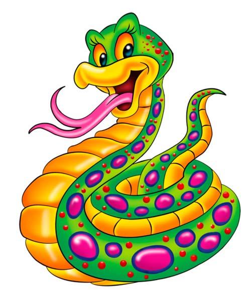Нарисованная змея на новый год
