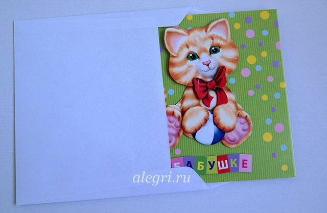 Котик на открытку
