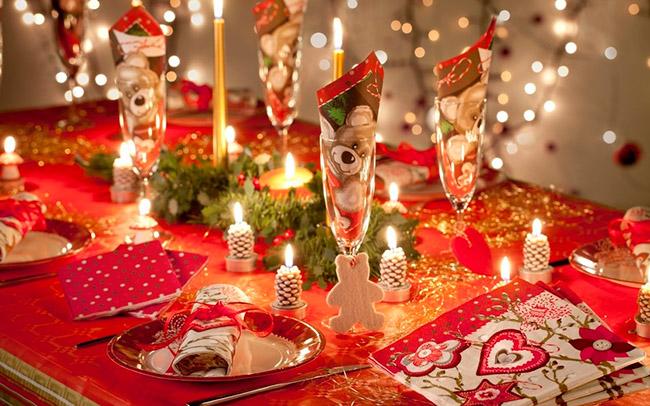Новогоднее украшение на стол своими руками 15