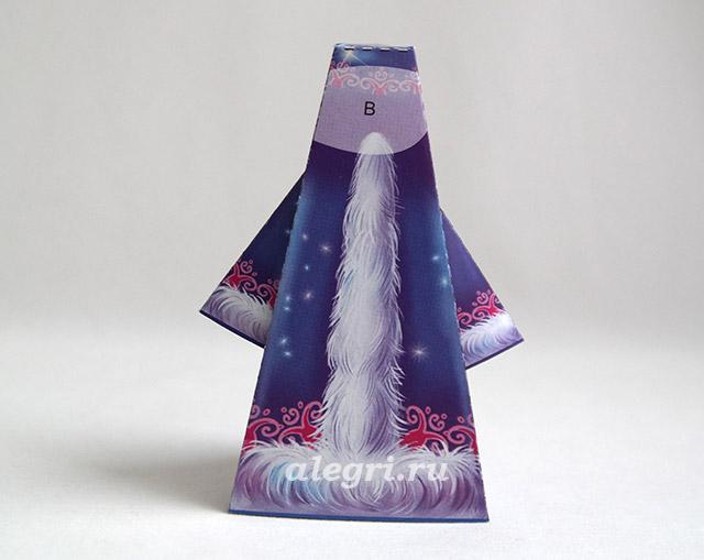 Новогодняя игрушка снегурочка из бумаги
