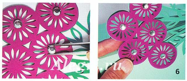 Из плотной бумаги розового