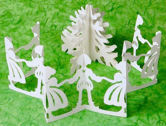 Новогодние объемные фигуры из бумаги своими руками