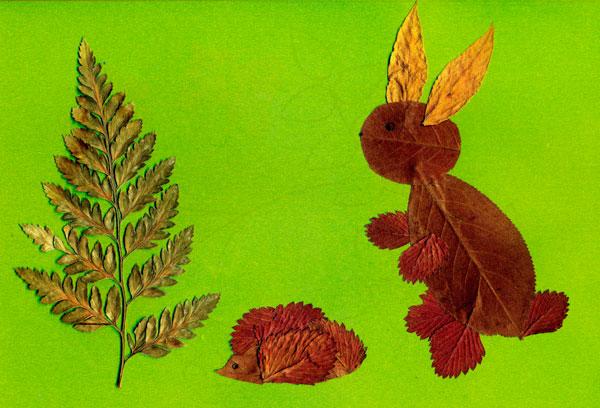 Поделки из природного материала из листьев своими руками