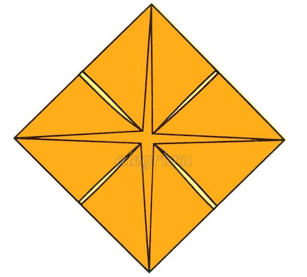 Петушок оригами схема для детей фото 999