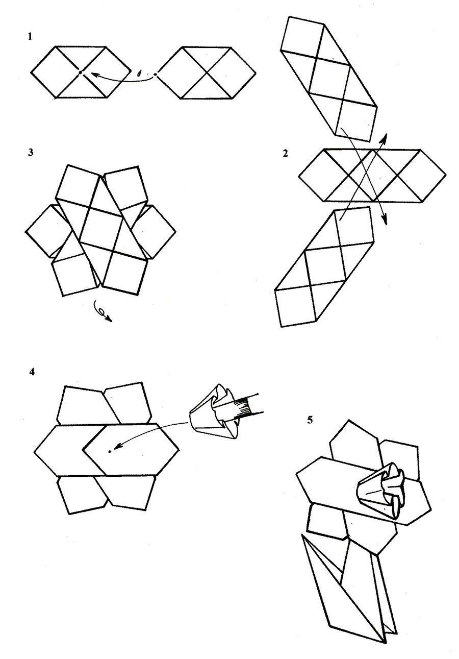 Оригами нарцисс схемы