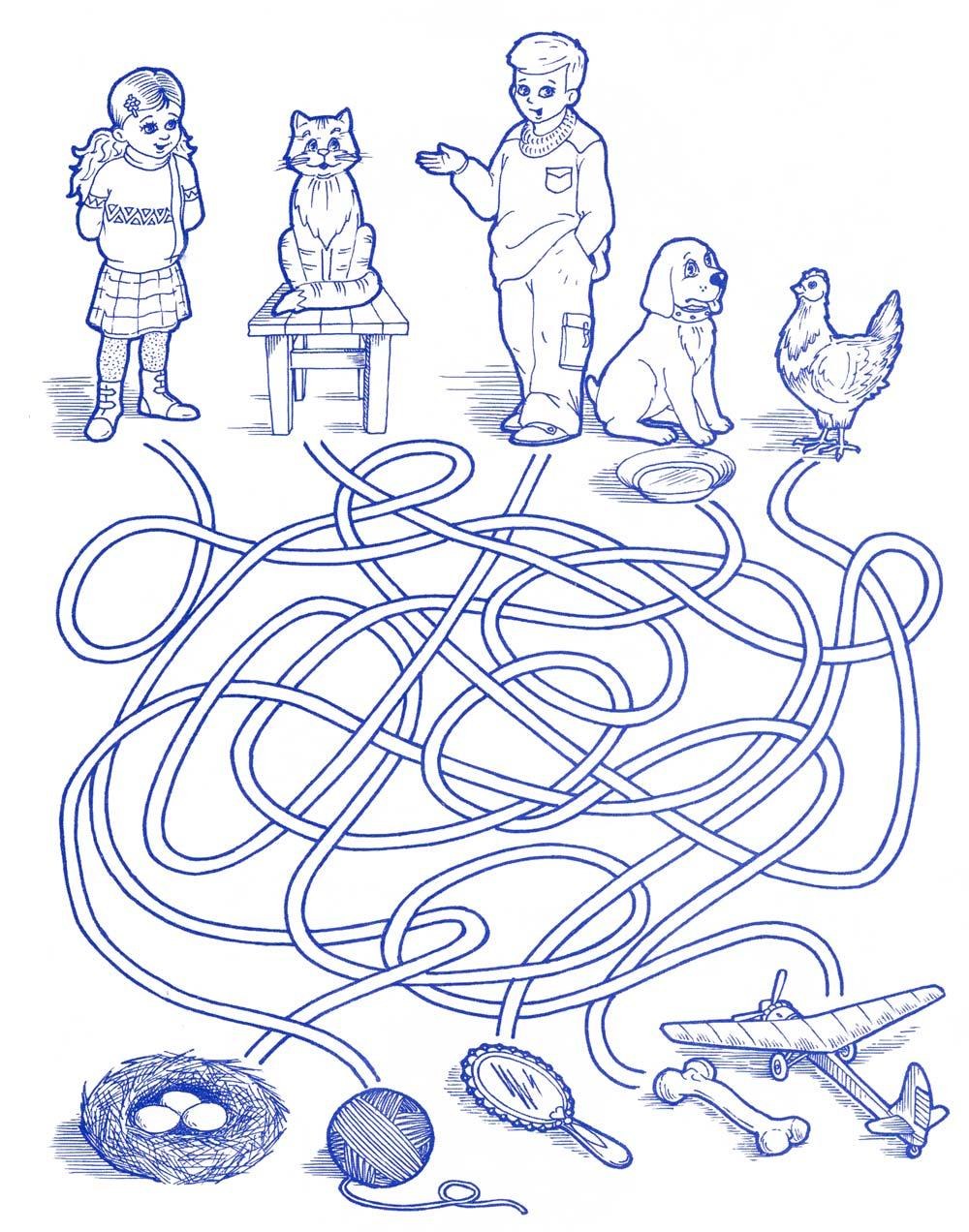 Раскраска по линиям для детей