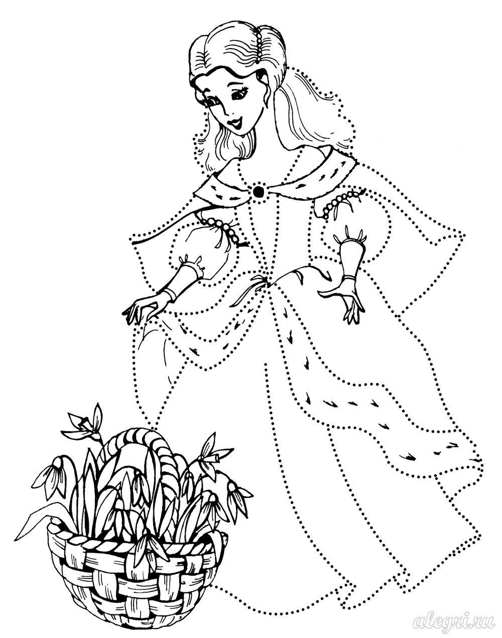 Раскраски для девочек принцессы