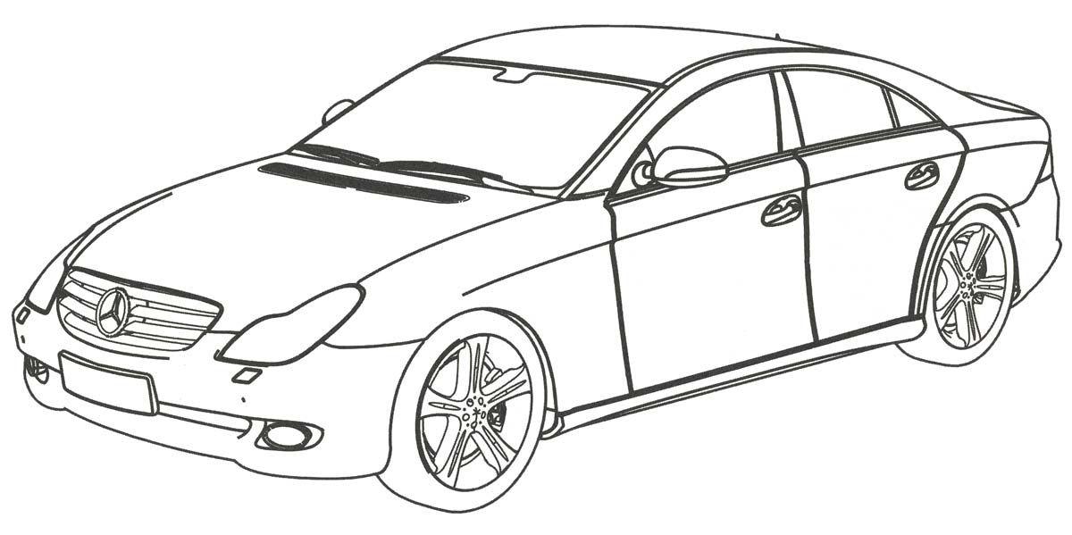 Раскраска. Mercedes-Benz CLS-класс