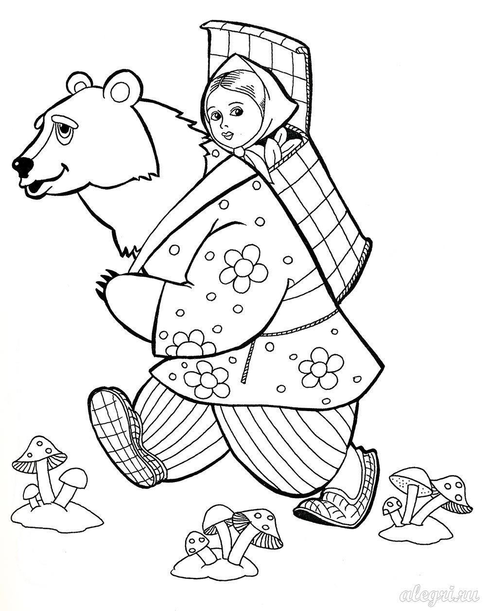 Раскраски к русским народным сказкам для школьников