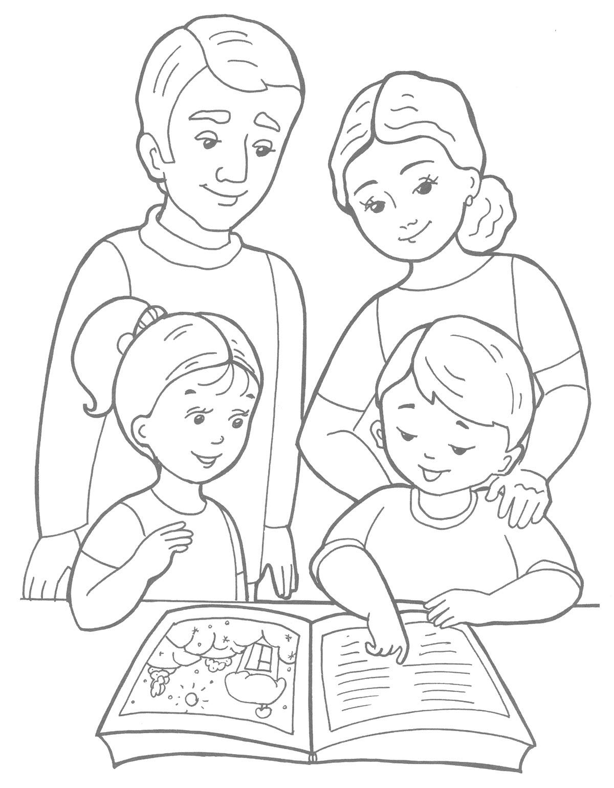 Детские раскраски семья
