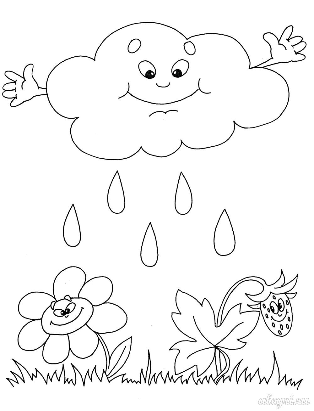 Картинка для детей капли дождя