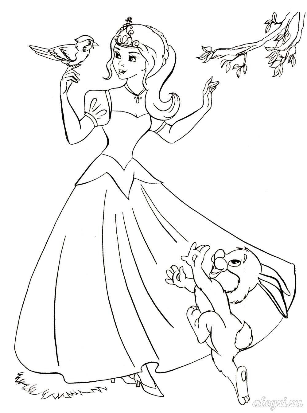 Раскраска для девочек принцессы - 8