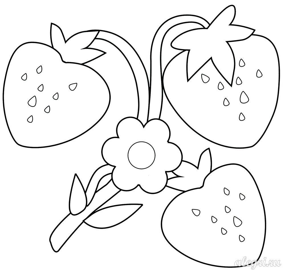 Летняя раскраска для детей 3-5 лет