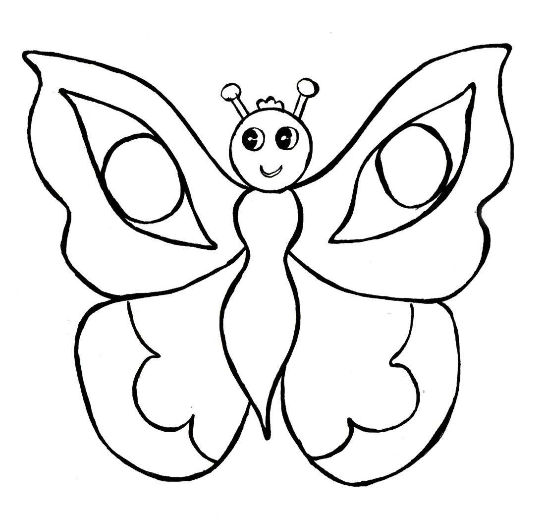 Картинки для детей раскраска бабочка для детей 12