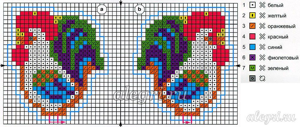 Схема вышивки крестом петуха фото 894
