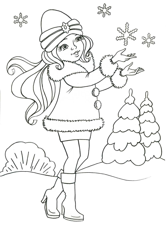 Раскраски для детей зима
