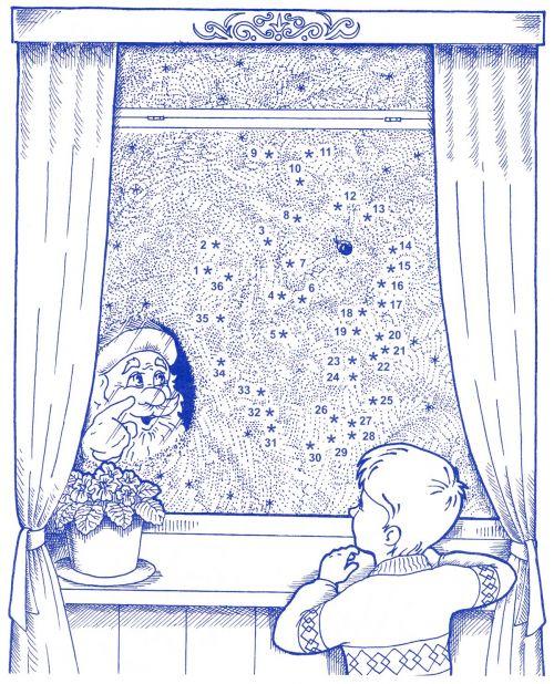 И рисует как художник на окне