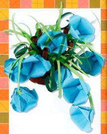 Оригами цветы. Колокольчики